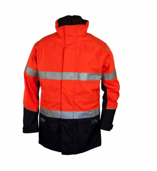 Zetel Arcsafe z59 Jacket Oranage Navy with reflectivev trim