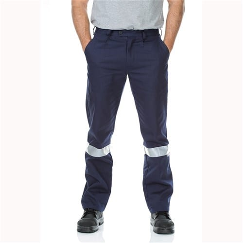 Cotton Drill Regular Weight Pants with Reflective Tape