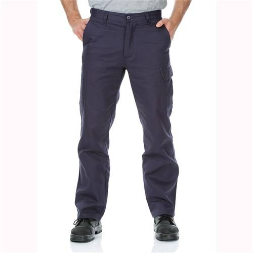 cotton drill navy cargo pants