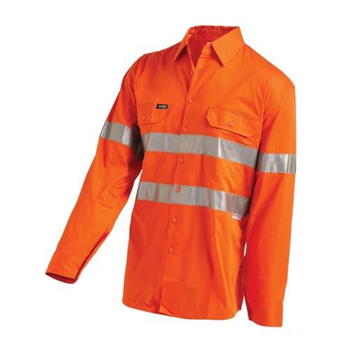 Hi-Vis Lightweight Shirt with Reflective Tape - Full Gusset Cuff