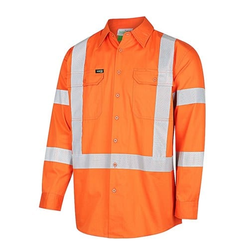HI-VIS Lightweight X-Back Perforated Taped Shirt