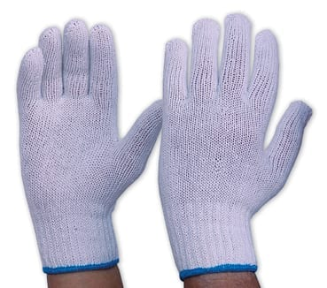 Glove Interlock Mens Hemmed Poly/Cotton Liner (Pack of 12)