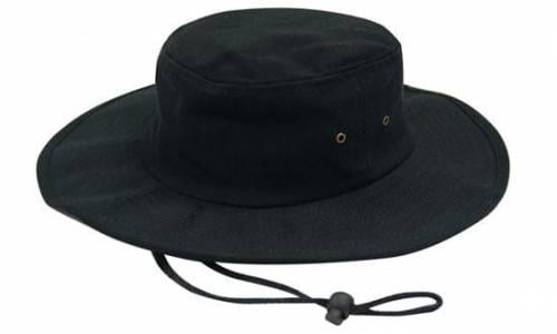 Brushed Heavy Cotton Hat Black
