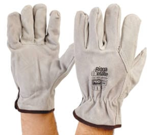 Riggamate Cowsplit Leather Glove Large (Pack of 12)