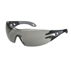 Spectacle Pheos Grey Lens Black/Grey Supravision Hard Coat Anti-fog