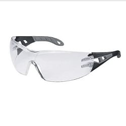 Spectacle Pheos Clear Lens Black/Grey Supravision Hard Coat Anti-fog