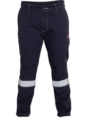 Pant Cargo Bisley FR HRC2 Navy Vented With Reflective Tape