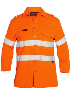Tencate Tecasafe Plus Taped Hi Vis FR Vented Long Sleeve Shirt