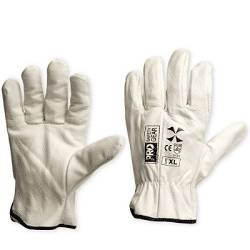 """Glove Riggers Riggamate """"X"""" Cow Hide Beige XL(Pack of 12)"""