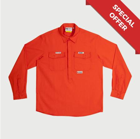 Shirt FR HRC1 (ATPV6.8) Orange Non Reflective