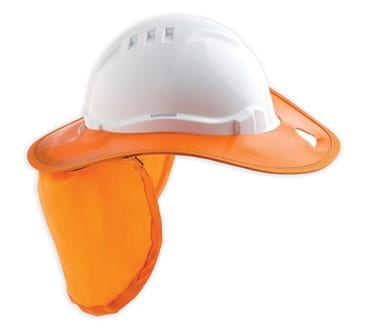 Plastic Hat Brim With Neck Flap