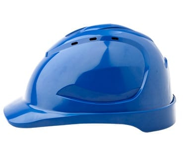 Hard Hat Vented, 6 Point Push-lock Harness Blue