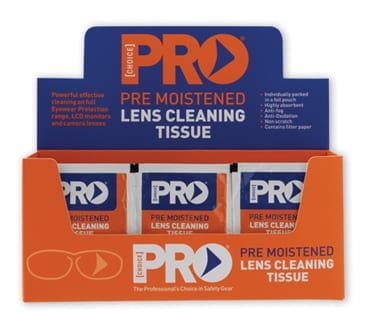 Lens Cleaning Wipes Alcohol Free Anti Fog Box of 100