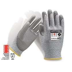 Force 360 Worx 201 Cut 5 Glove PU 13 Gauge EN388 Rating 4543 (Pack of 12)