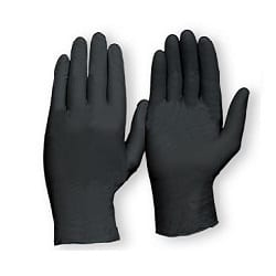 Gloves Disposable Nitrile Heavy Duty Powder Free Black