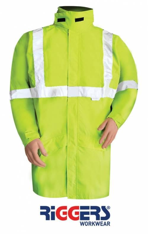 Breathable Waterproof Storm Jacket With Reflective Tape