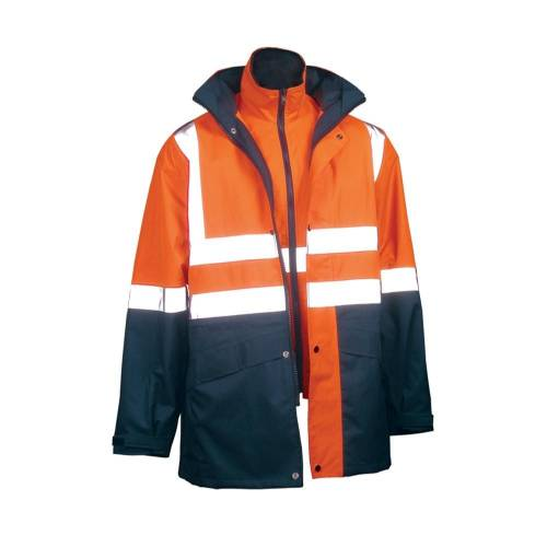 4-In-1 Safety Reflective Jacket With Reversible Vest
