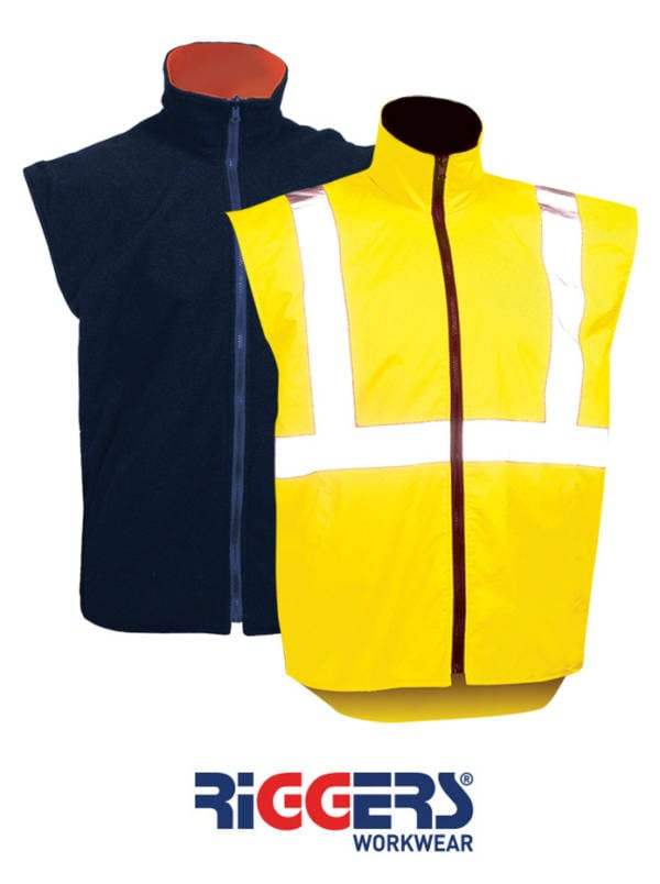 Safety Reflective Vest Reversible Yellow