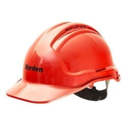 Tuffguard Hard Hat Vented Warden Red