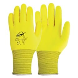 Glove Ninja HPT Foam PVC Hi-Vis Yellow
