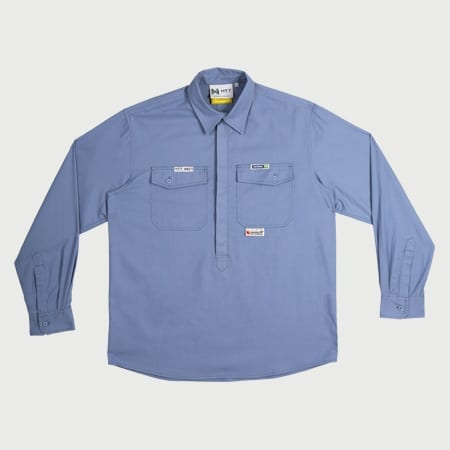 Shirt FR HRC1 (ATPV6.8) Chambray Blue – Inherent Fabric