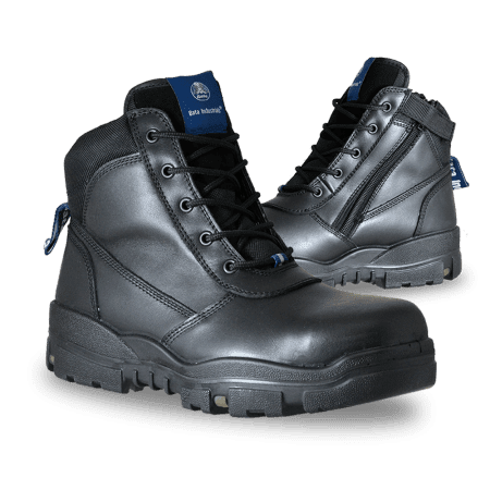 Leather Zip Lace Up Safety Boot Horizon Neca Safety