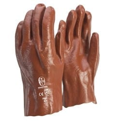 Glove PVC Red 27cm Single Dip