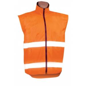 safety vest reversible with hoop reflective tape