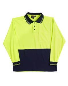 Shirt Polo Long Sleeve Cool Dry Micro Mesh
