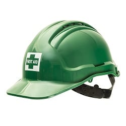 Tuffguard Hard Hat Vented Green With First Aid