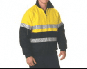 HiVis Two Tone Bluey Wet Weather Bomber Jacket with Reflective Tape