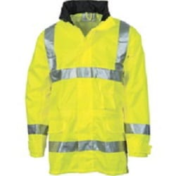 Hi Vis Day/Night Breathable Rain Jacket with 3M Reflective Tape