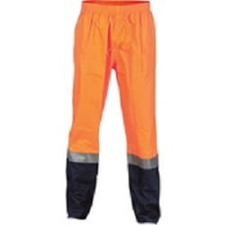 Hi Vis Two Tone Lightweight Rain Pants With 3M Reflective Tape
