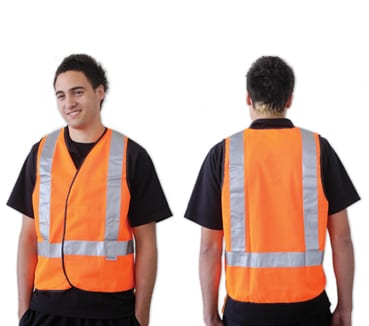 Orange Day/Night Use With H Back Pattern Reflective Tape