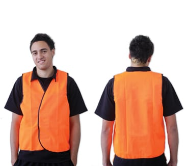 Orange Safety Vest Day Use Non-reflective