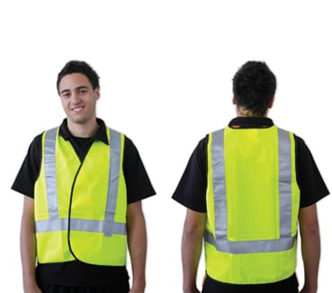 Yellow Day/Night Use With H Back Pattern Reflective Tape