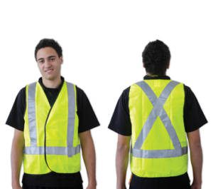 Yellow Day/Night Use With X Back Reflective Tape