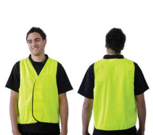 Yellow Safety Vest Day Use Non-reflective