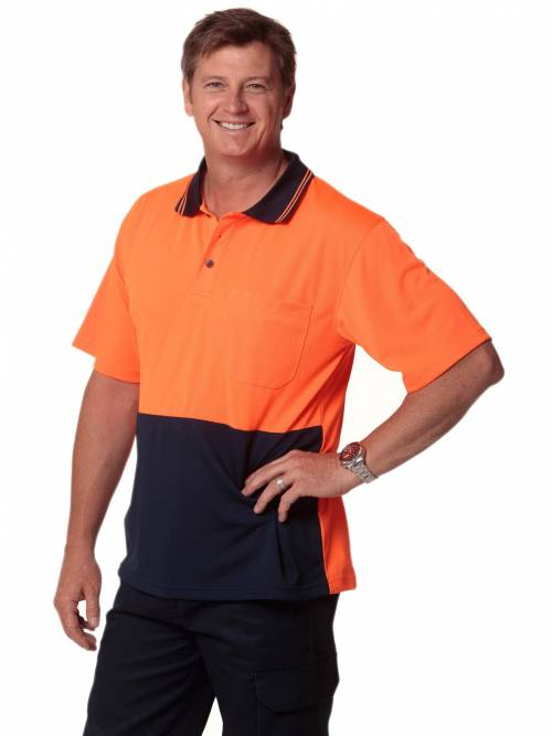 Cool Dry Micro-mesh Safety Polo By Shiny