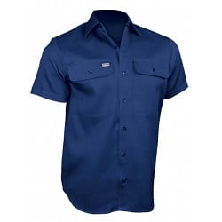 Short Sleeve Open Front Cotton Shirt Riggers