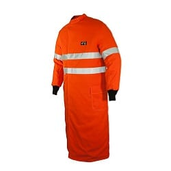 ArcSafe T40 Switching Coat 1300mm Long Orange/Ref Trim ATPV 40 PPE4 (HRC4)
