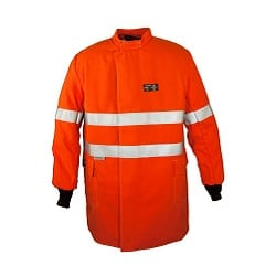 ArcSafe T40 Switching Jacket 870mm Long Orange /Ref Trim ATPV 40 PPE4 (HRC4)