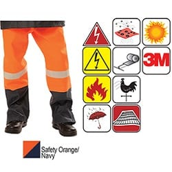 Flame Arc Rated FR Anti-Static Pant Orange/Navy