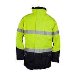 Zetel Arcsafe Hi Vis Jacket Yellow Navy with Reflective Tape