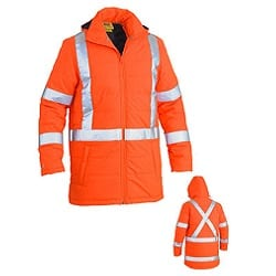 NSW Rail Compliant - Bisley Puffer Jacket with Cross Back