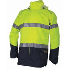 Zetel XT Z59 Jacket Fluoro Yellow/Navy With Reflective Tape