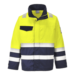 Arc Rated Hi-Vis Modaflame Jacket Taped Yellow/Navy ATPV8.4