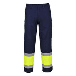 Arc Rated Hi-Vis Modaflame Trousers Yellow/Navy ATPV8.4