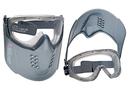National Breast Cancer Foundation Guardian+ Clear Visor Goggle face protection