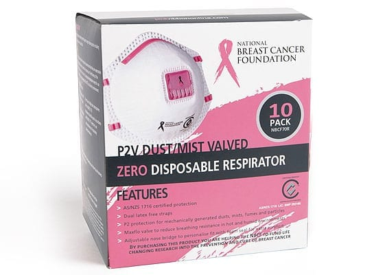 National Breast Cancer Foundation P2V Disposable Respirator 10pk
